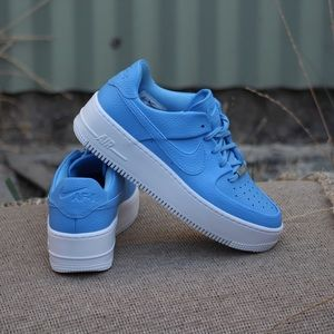 Nike Women's Air Force 1 Sage Low Baby Blue Sz 7.5